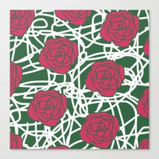 ROSE SQUIGGLE Canvas Print