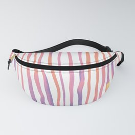 Vertical watercolor lines - pink and ultraviolet Fanny Pack