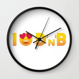 I Love Drum & Bass Wall Clock