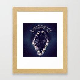 ACOWAR Wolf Framed Art Print