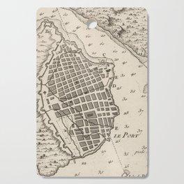 Vintage Map of Havana Cuba (1764) Cutting Board