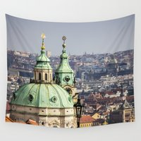 prague Wall Tapestries featuring Prague by Veronika