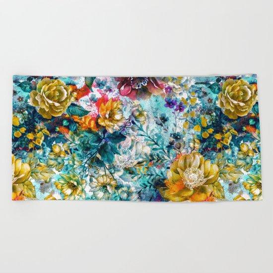 garden in my dream Beach Towel