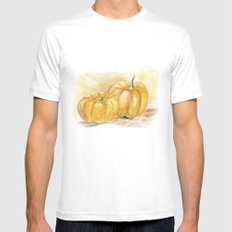 Mini Pumpkins II MEDIUM Mens Fitted Tee White