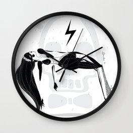 La foudre - Emilie Record Wall Clock