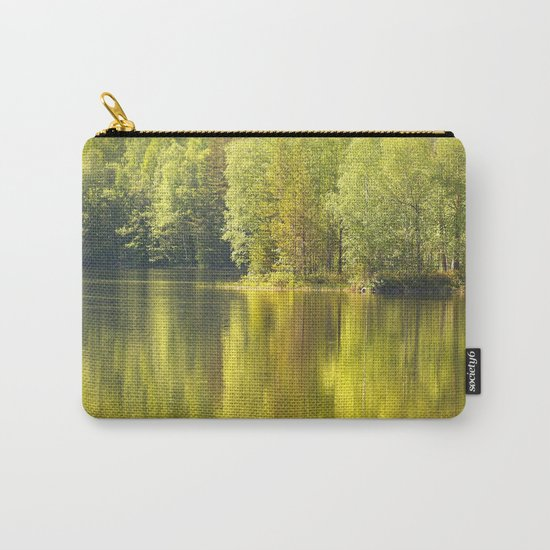 Summer Green Reflection  Carry-All Pouch