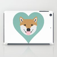 shiba inu iPad Cases featuring Shiba Love - Heart shiba inu funny dog for dog lovers pet gifts customizable dog meme dog person by PetFriendly