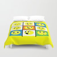 faces Duvet Covers featuring Faces by Omar VP