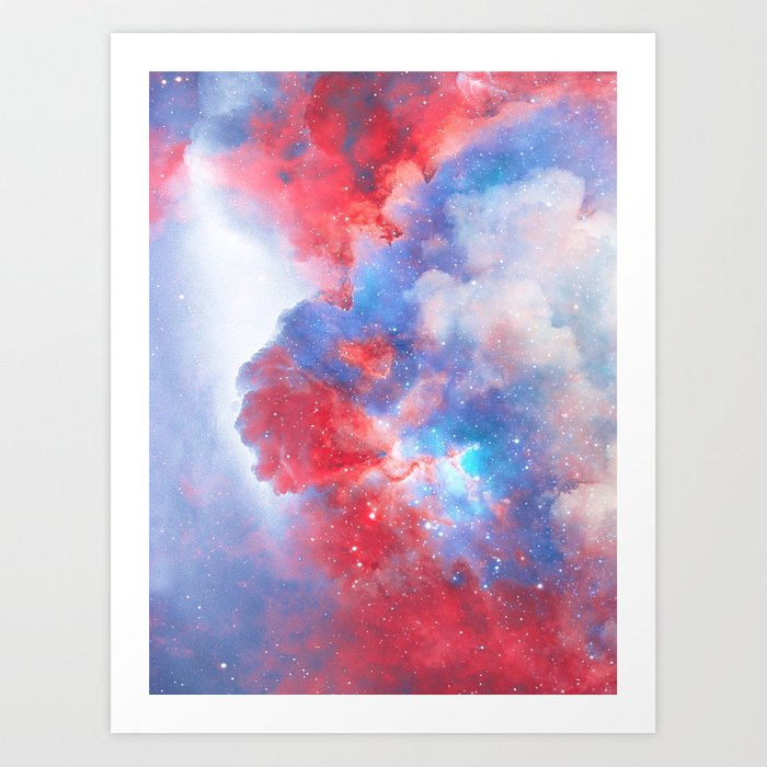 Stay with me between the Clouds and your Dreams Art Print