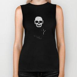 Love' skull -  a collaboration between Sam Guilhen and Gwenola de Muralt - Biker Tank