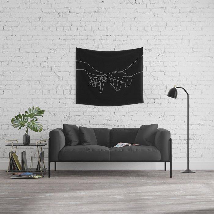 Black Pinky Swear Wall Tapestry