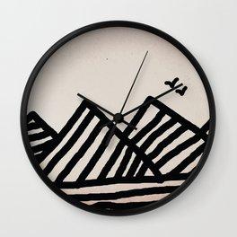 Sky Moutain Birds Wall Clock