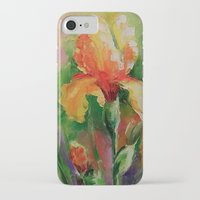 iris iPhone & iPod Cases featuring Iris by OLHADARCHUK