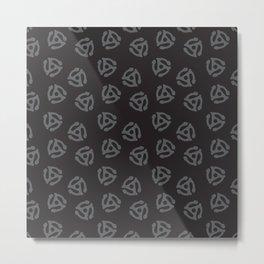 45 Adapter Black Metal Print