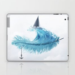 Water Feather • Blue Feather (horizontal) Laptop & iPad Skin