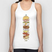 burger Tank Tops featuring Burger by Duke.Doks