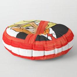 #Resist Orange 45 Floor Pillow