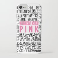 mean girls iPhone & iPod Cases featuring Mean Girls Quotes by TurquoisedHearts