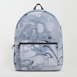 Powder blue water marble Backpack