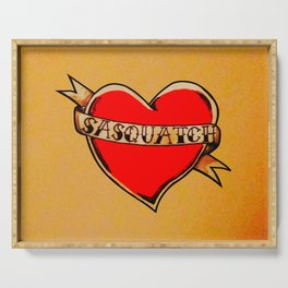 My Heart Belongs to Sasquatch Serving Tray
