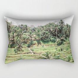 Tegalalang Rice fields near Ubud Bali, Indonesia | Travel film photography wall art Rectangular Pillow