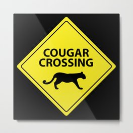 Cougar Crossing Metal Print