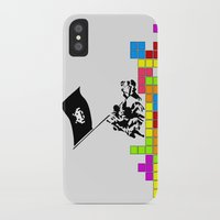 video games iPhone & iPod Cases featuring Video Games at Iwo Jima by Mike Dicker