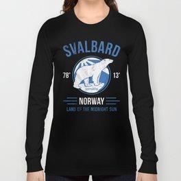 Svalbard Arctic Polar Bear - Midnight Sun in Longyearbyen Norway Long Sleeve T-shirt