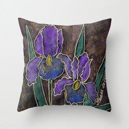 Twinkling Iris Throw Pillow