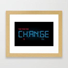 CH:AN:GE Framed Art Print