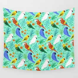 Parrots Wall Tapestry