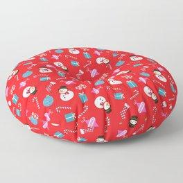Xmas Snowman Floor Pillow