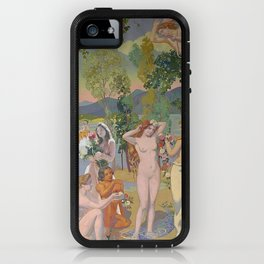 lorde in 'eros is struck by psyche's beauty' by maurice denis, 1908 iPhone Case