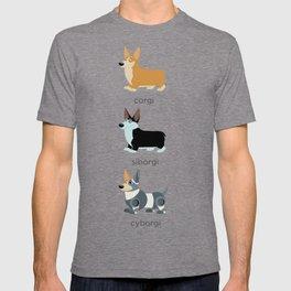 corgi, siborgi, and cybogi T-shirt