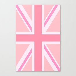 Pink Union Jack/Flag Design Canvas Print