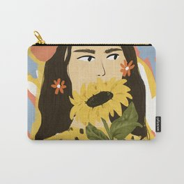 Sunflowers In Your Face Carry-All Pouch
