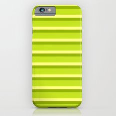 Lime Green Stripes Slim Case iPhone 6s