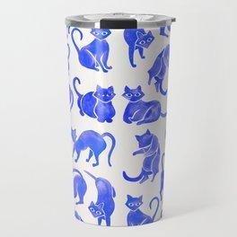 Cat Positions – Blue Palette Travel Mug
