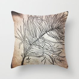 Palm Flower on Earth Day Throw Pillow