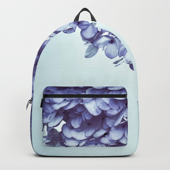 Floral fringe - french blue Backpack