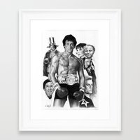 rocky Framed Art Prints featuring Rocky by calibos