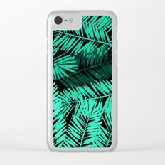 Tropical Palm Leaves II Clear iPhone Case