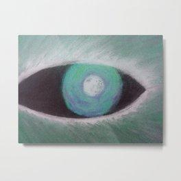 Werewolf Green Eye Metal Print