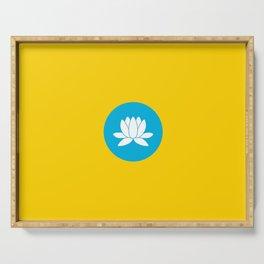 flag of Kalmykia Serving Tray