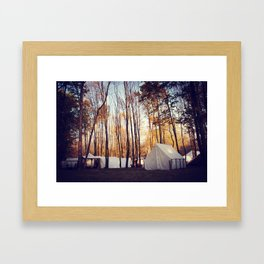 Reenactment Tents Framed Art Print