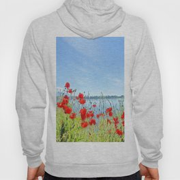 Red poppies in the lakeshore Hoody