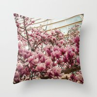 dc Throw Pillows featuring DC Blossoms  by Ashley Hirst Photography
