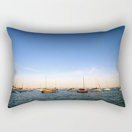 Lake Michigan Sailboats Rectangular Pillow