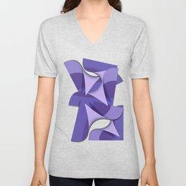 Ultra Violet Abstract Waves Unisex V-Neck