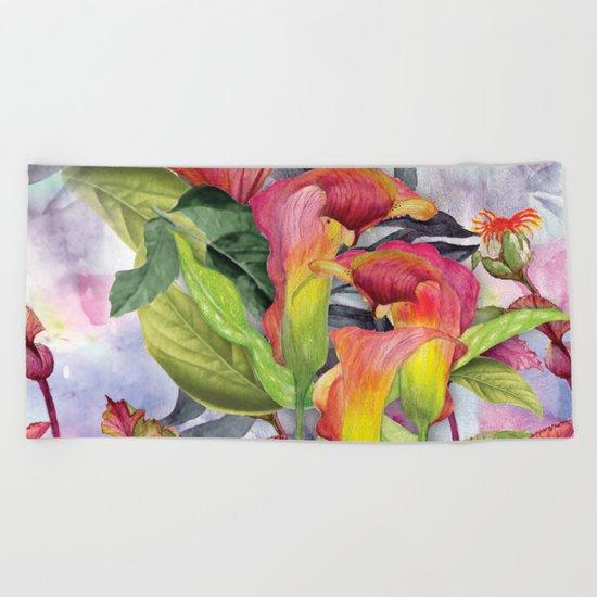 Macro Flowers #24 Beach Towel